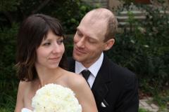 Hochzeitsfoto-Shooting mit Katja und Lincoln Cushman auf dem Gelaende der University of Western Ontario, London